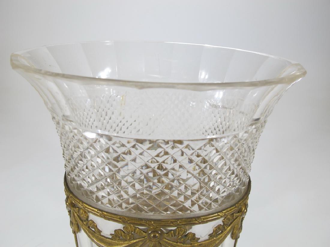 Antique Baccarat style bronze & crystal vase - 2