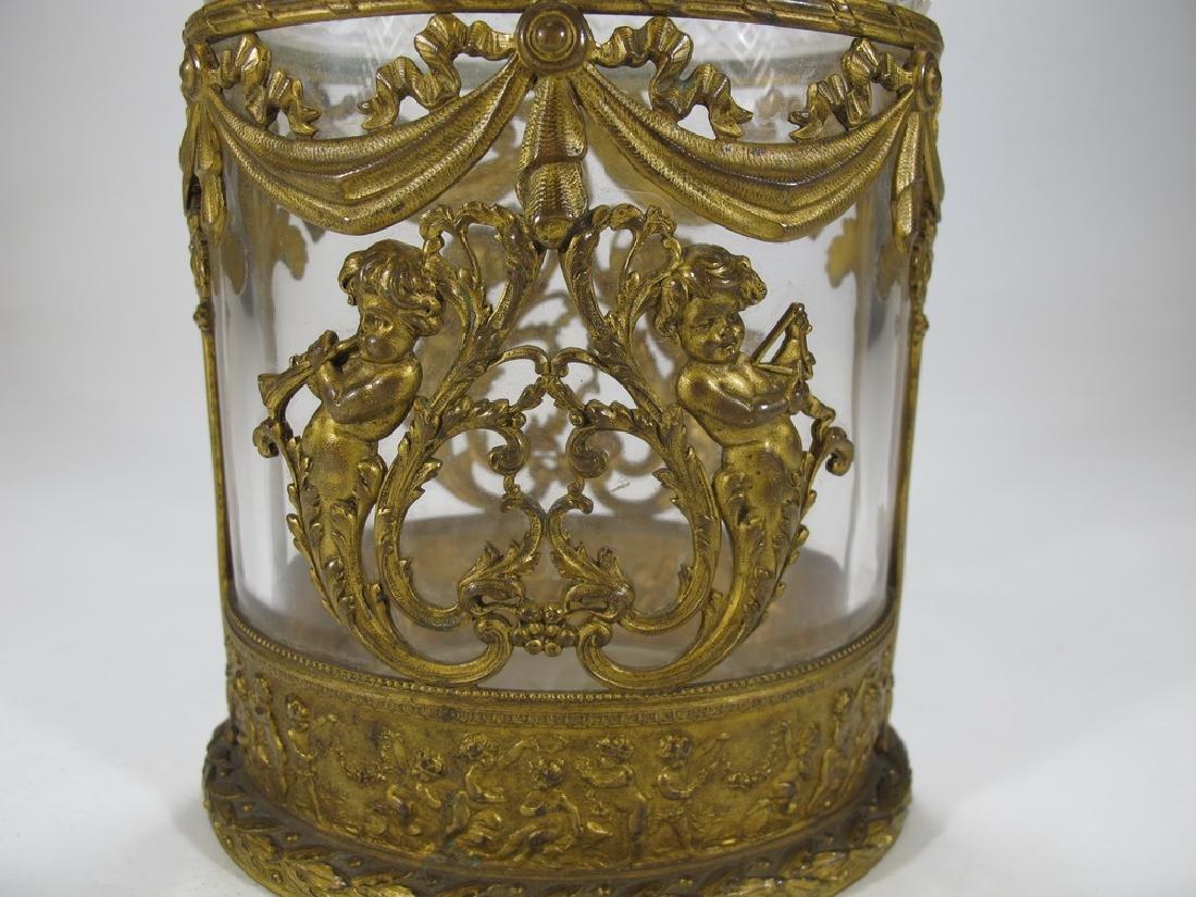 Antique Baccarat style bronze & crystal vase - 3