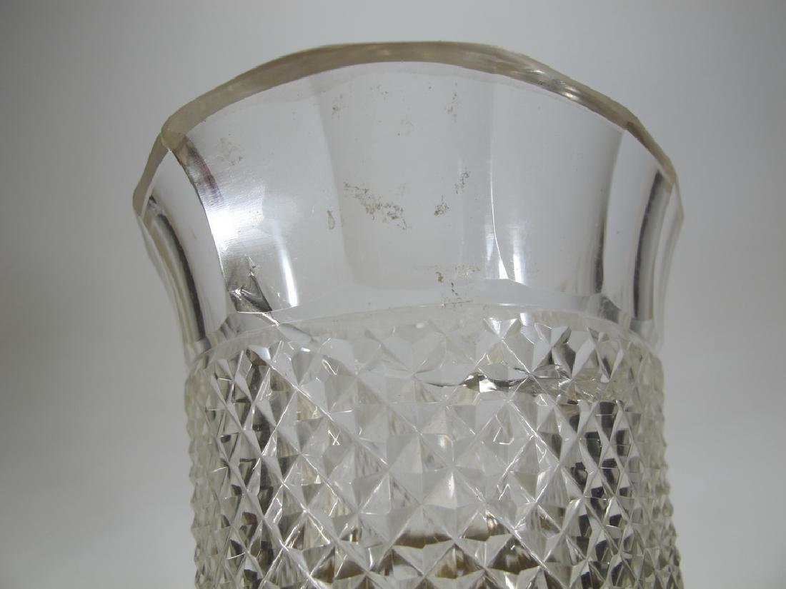 Antique Baccarat style bronze & crystal vase - 8