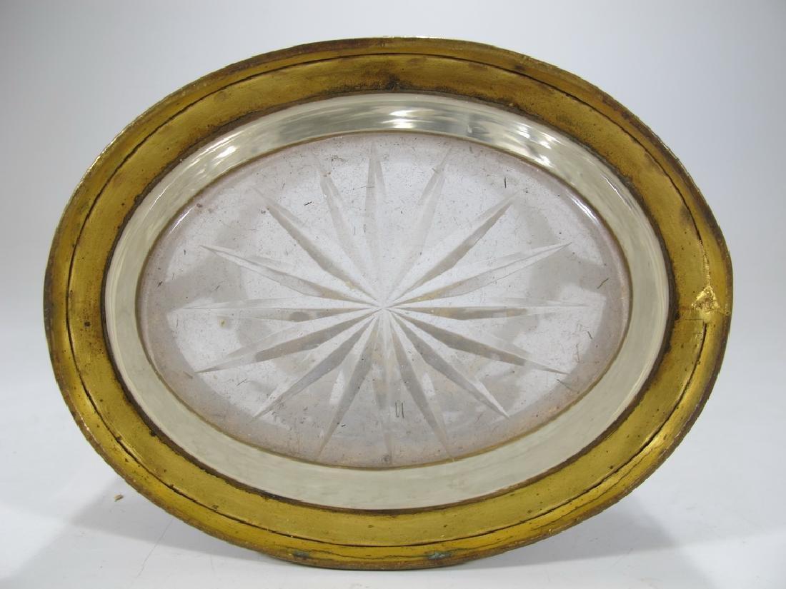 Antique Baccarat style bronze & crystal vase - 9
