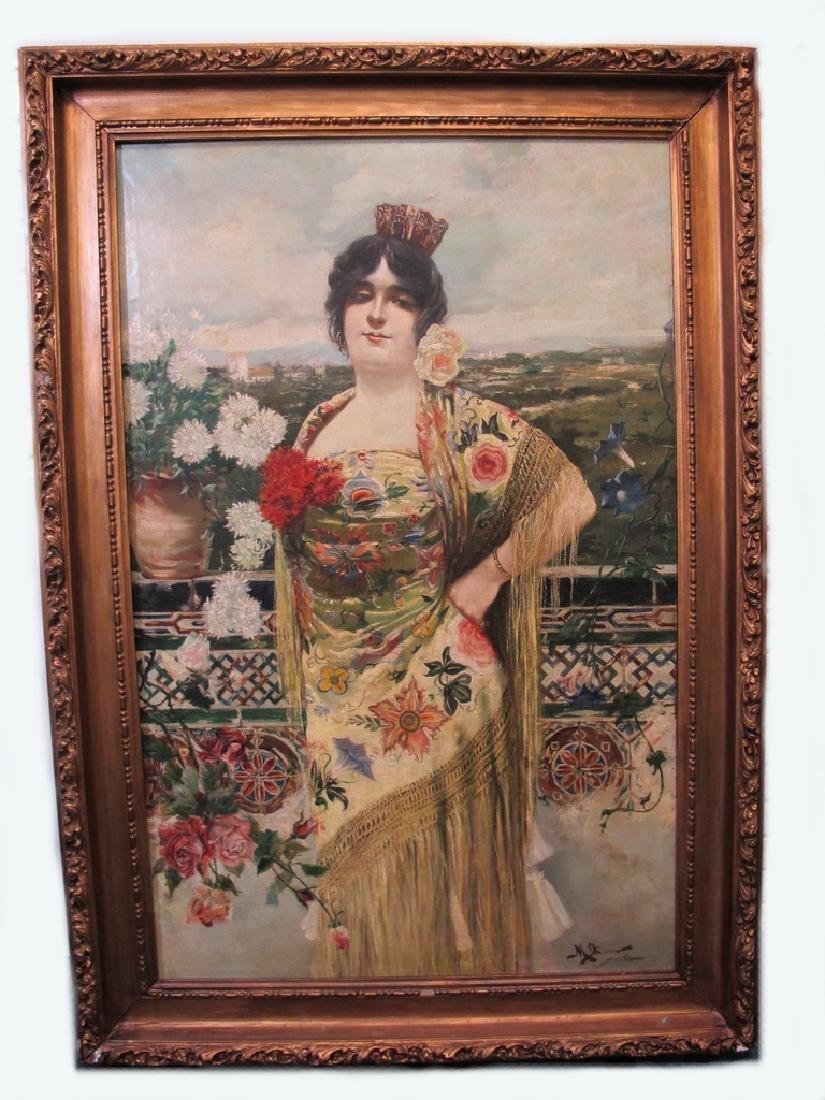 Manuel OZUNA (XIX-XX) Spanish oil on camvas painting