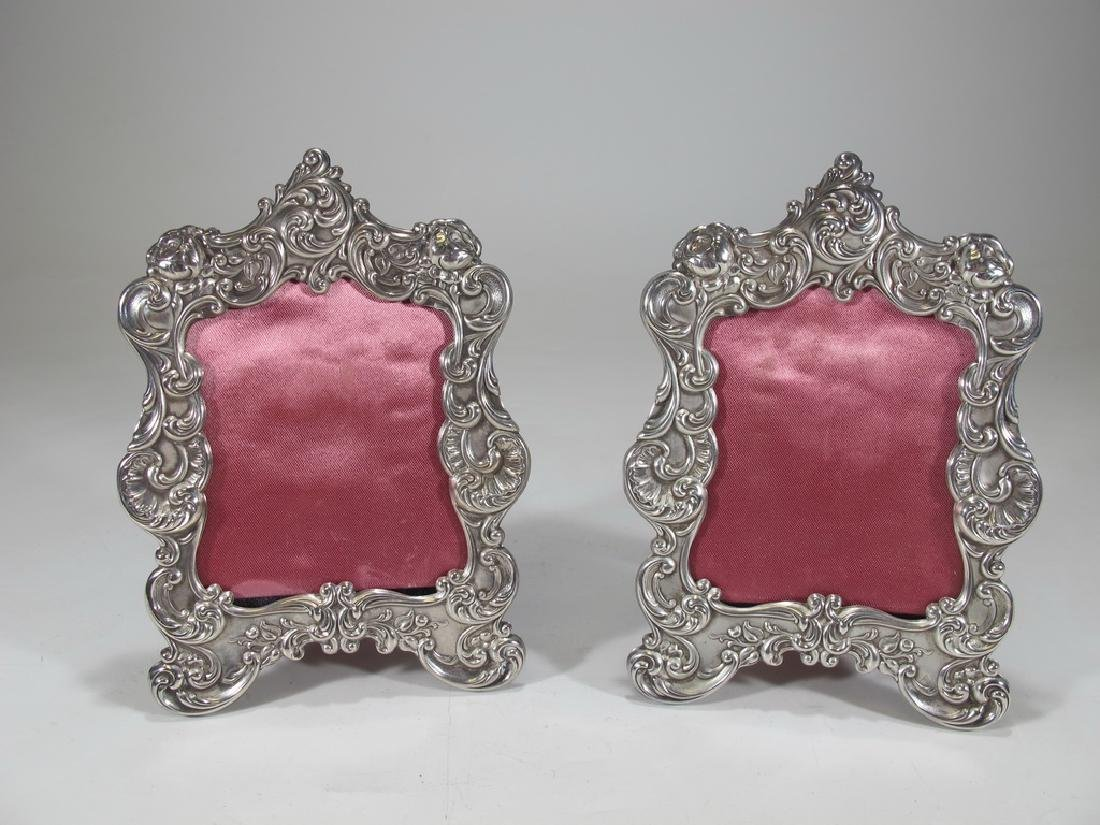 Antique Gorham pair of sterling picture frames