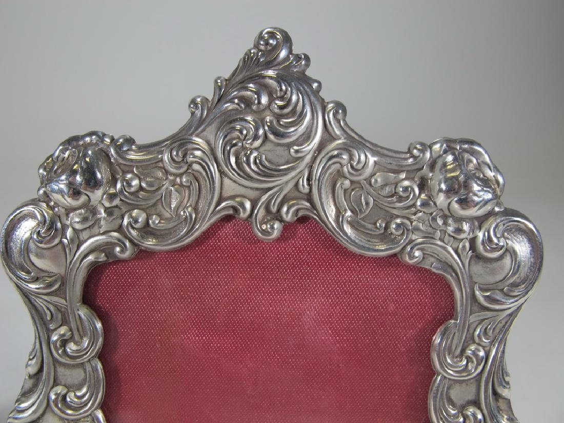Antique Gorham pair of sterling picture frames - 2