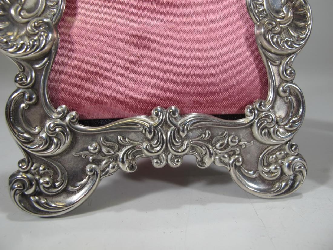 Antique Gorham pair of sterling picture frames - 3