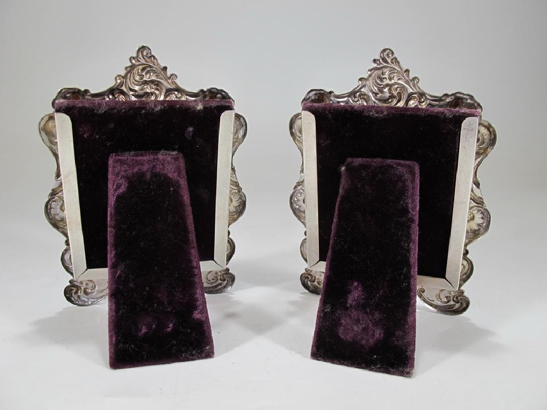 Antique Gorham pair of sterling picture frames - 4