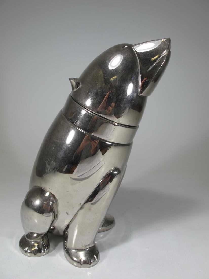 Vintage silverplate bear cocktail shaker