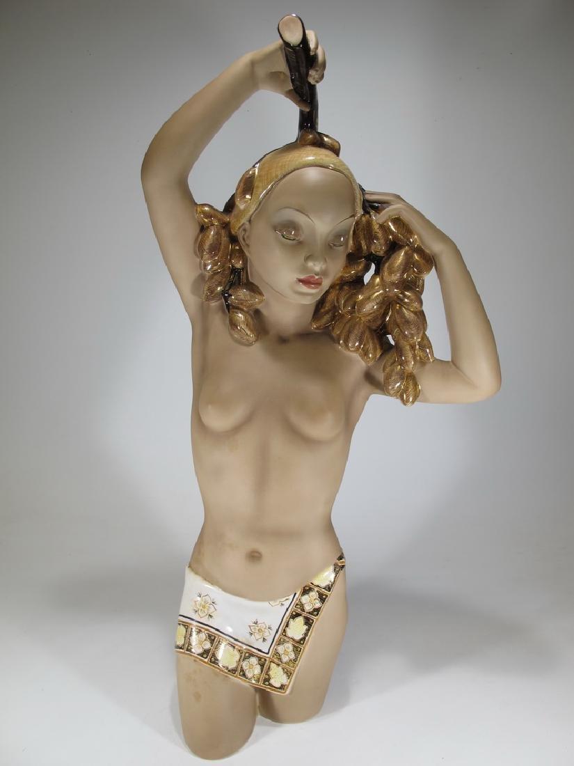 Cia Manna, Torino, Italy ceramic nude statue