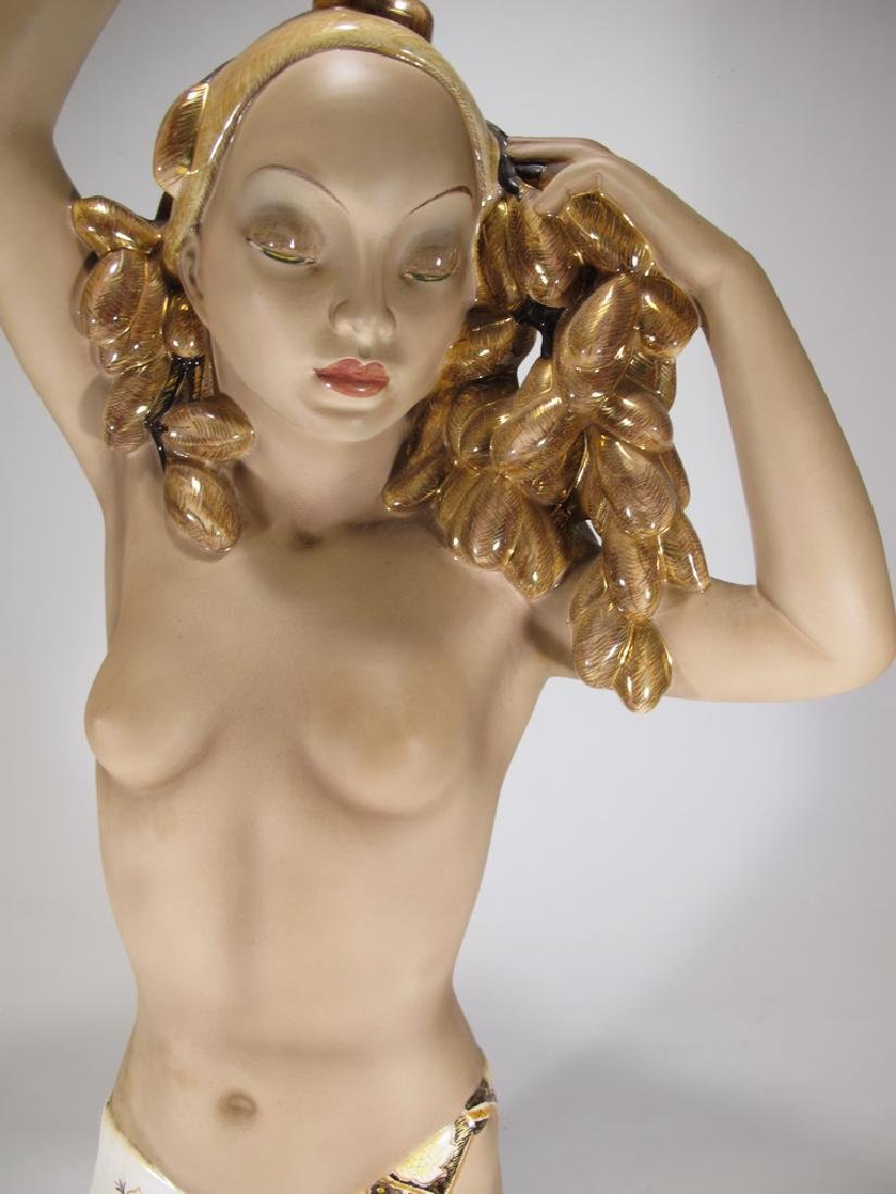 Cia Manna, Torino, Italy ceramic nude statue - 3
