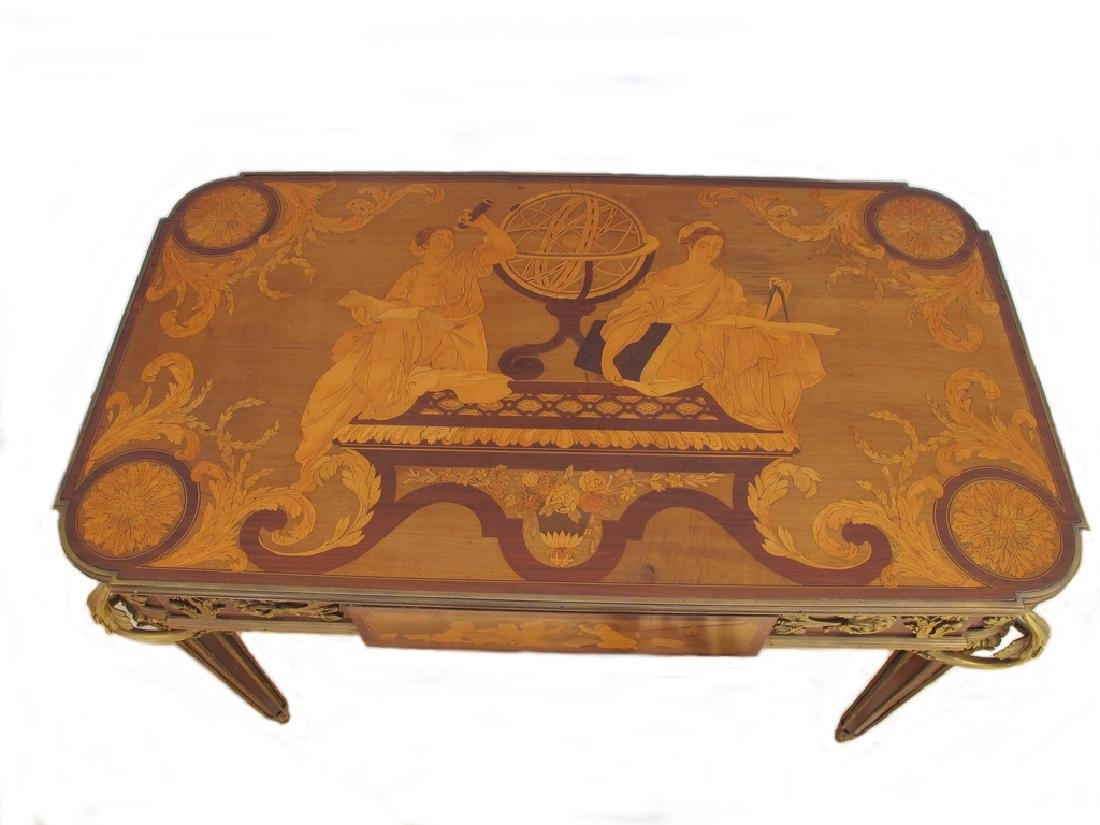 Awsome French Linke inlay & ormolu table - 2
