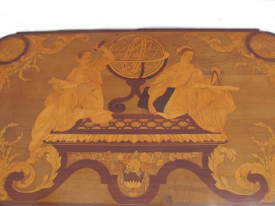 Awsome French Linke inlay & ormolu table - 3
