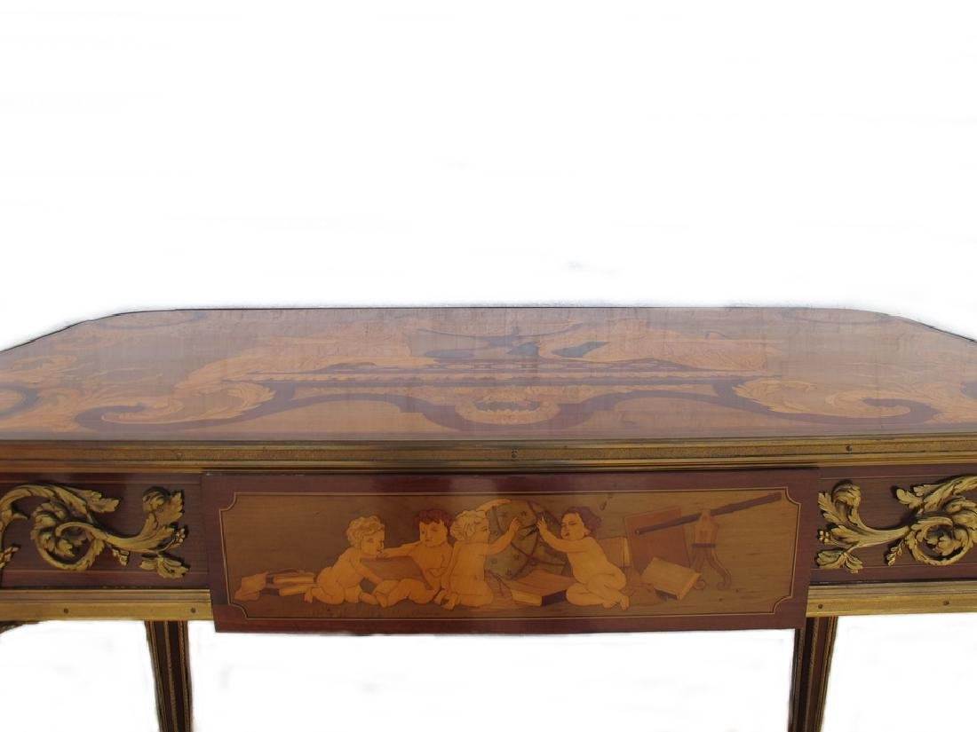 Awsome French Linke inlay & ormolu table - 4