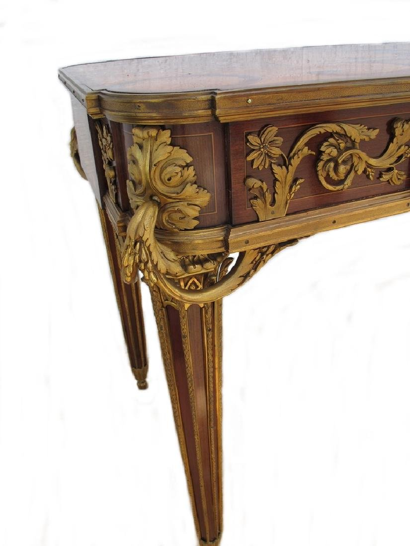 Awsome French Linke inlay & ormolu table - 6