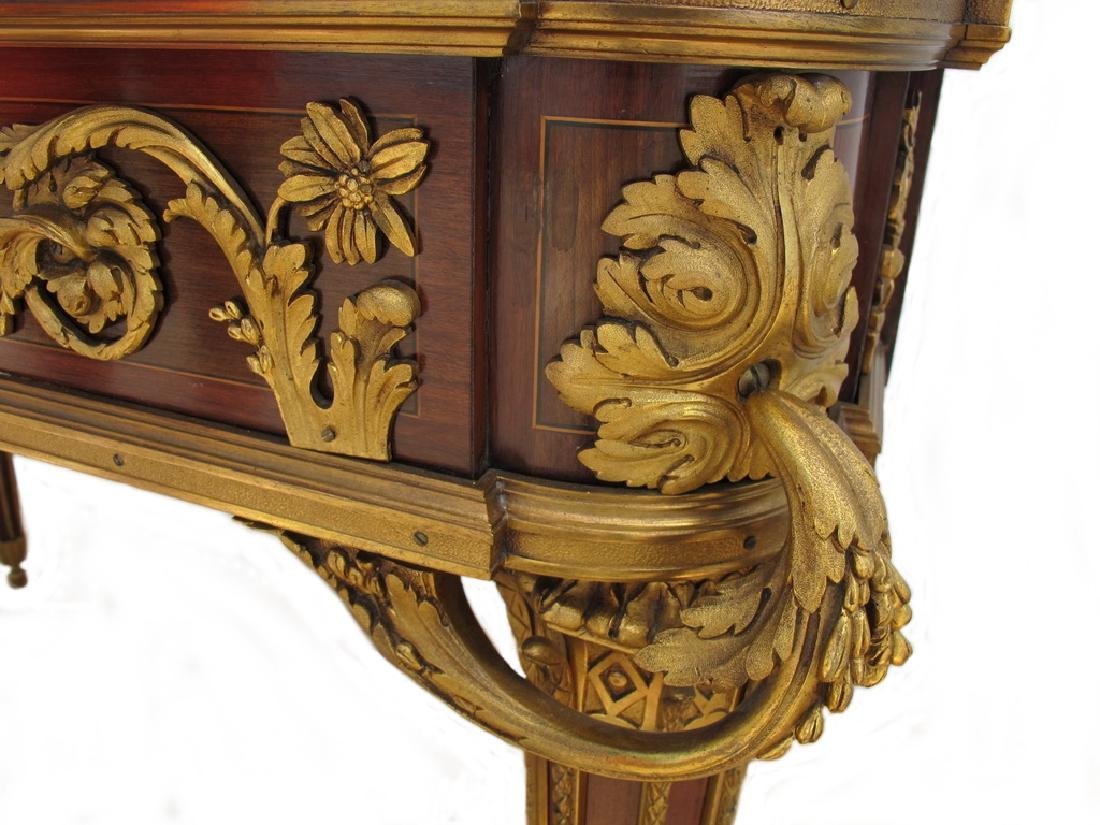 Awsome French Linke inlay & ormolu table - 8