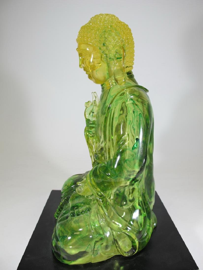 Vintage Chinese green Lucite Buddha statue - 6