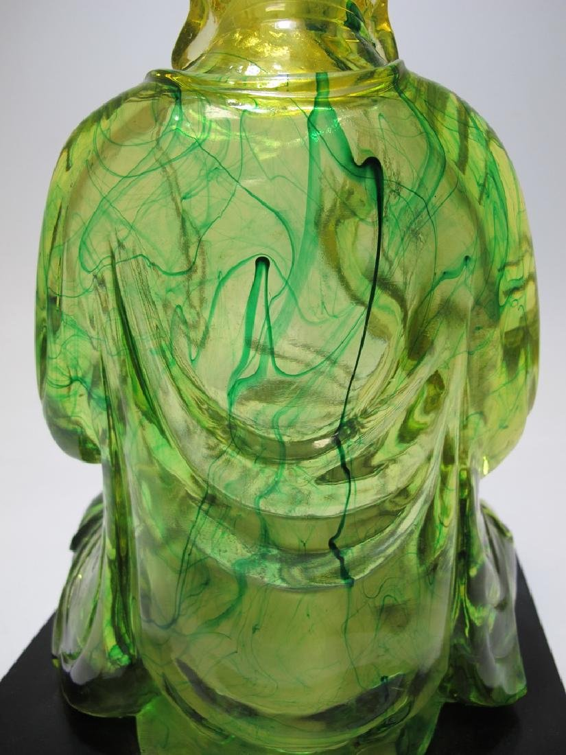 Vintage Chinese green Lucite Buddha statue - 7