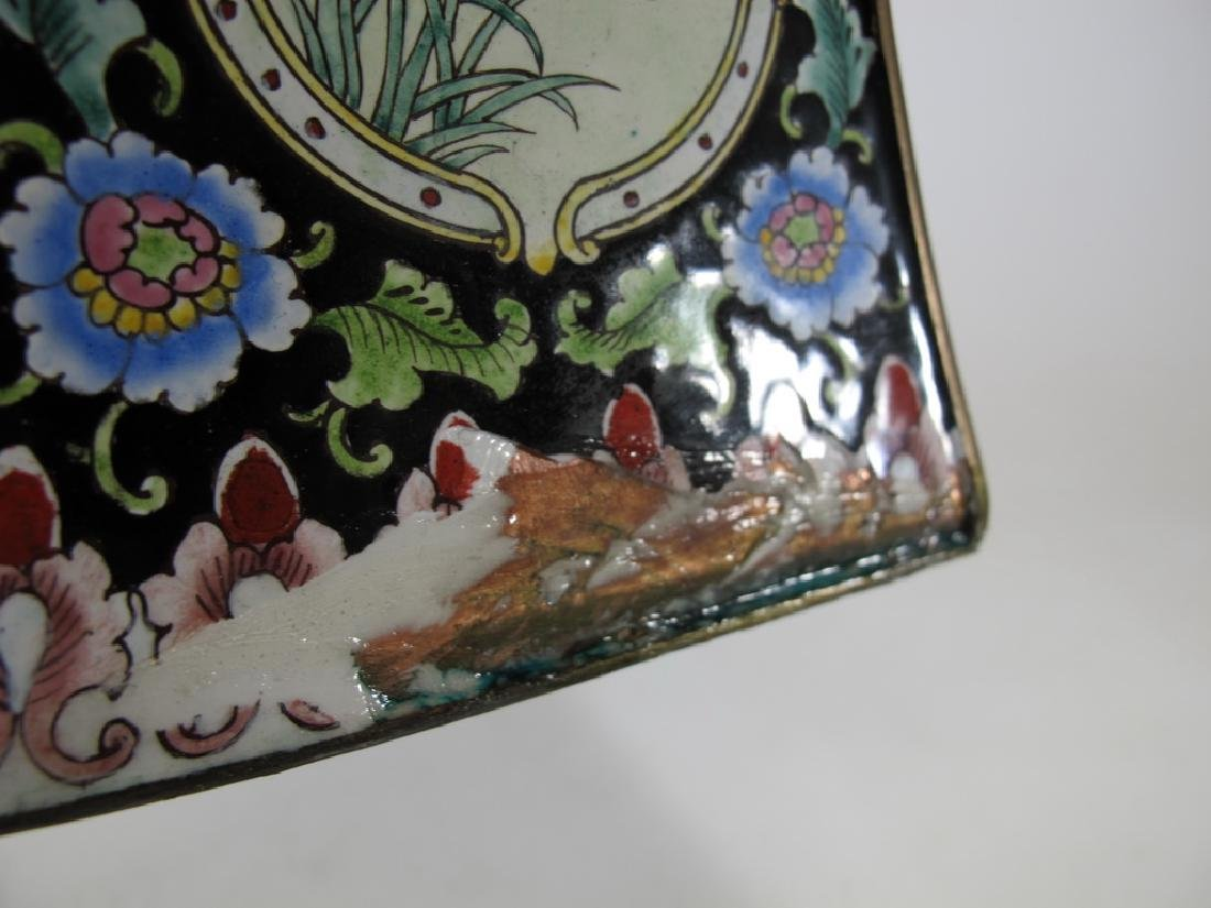 Antique Chinese cloisonne vase - 10