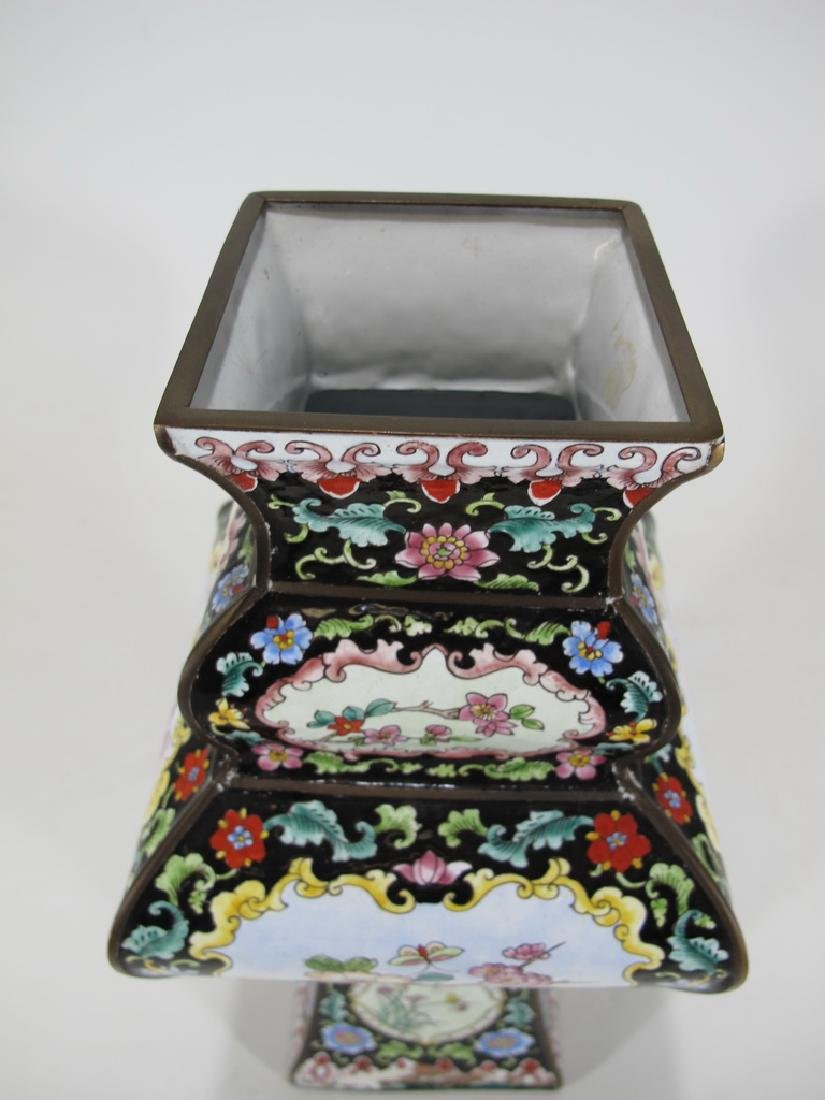 Antique Chinese cloisonne vase - 2