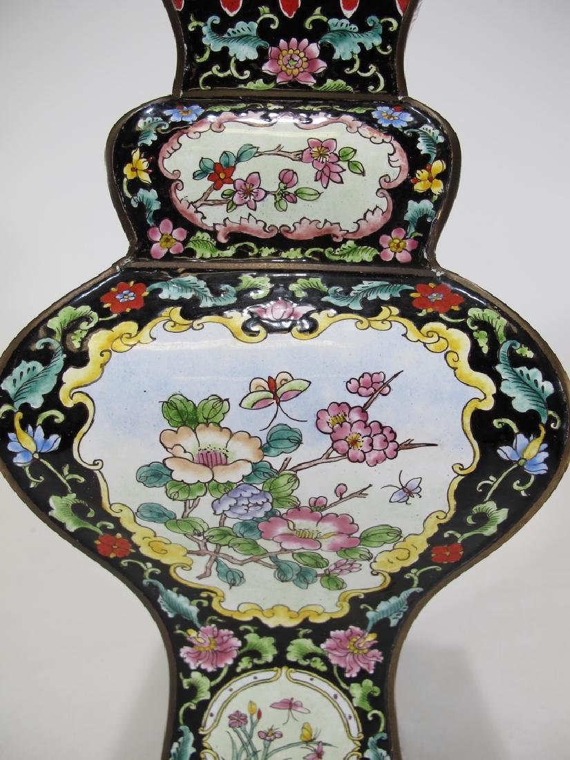 Antique Chinese cloisonne vase - 3