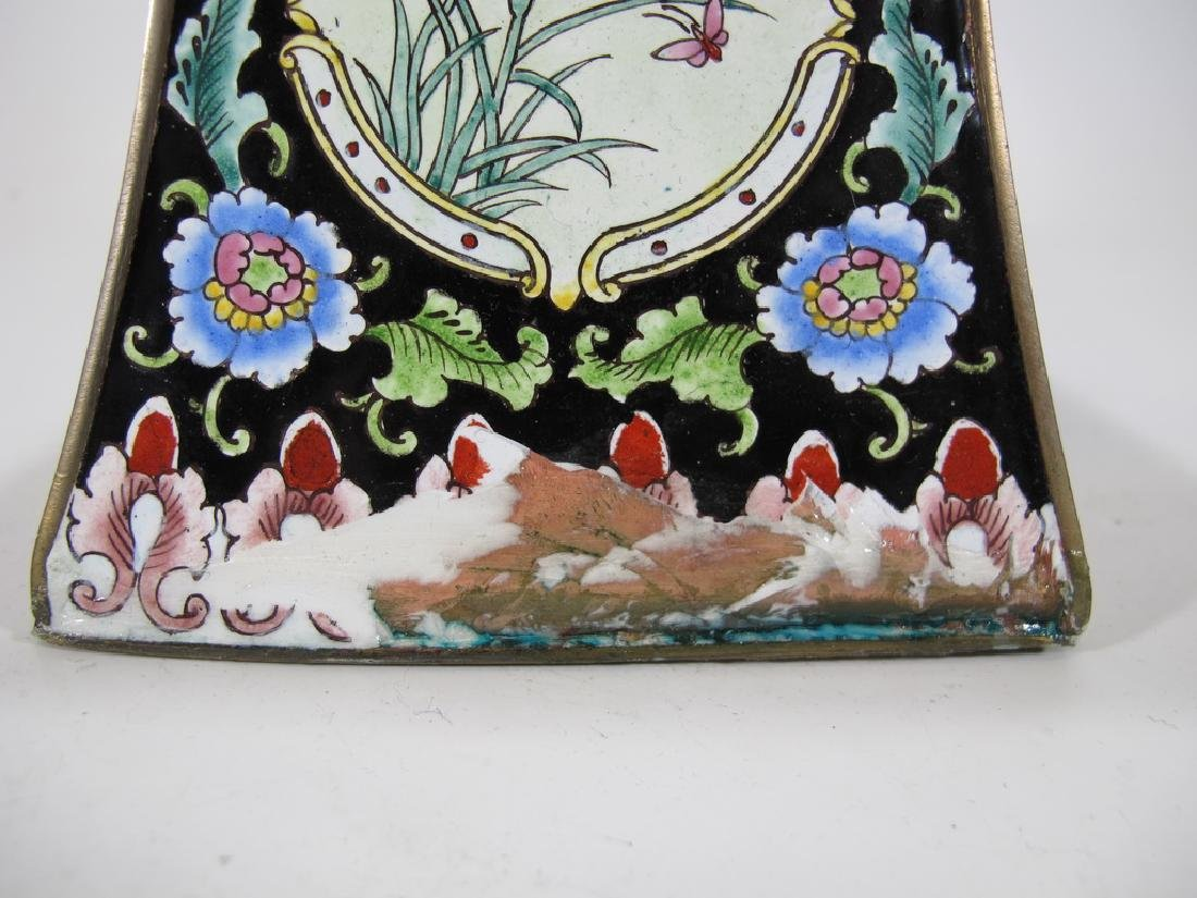 Antique Chinese cloisonne vase - 4