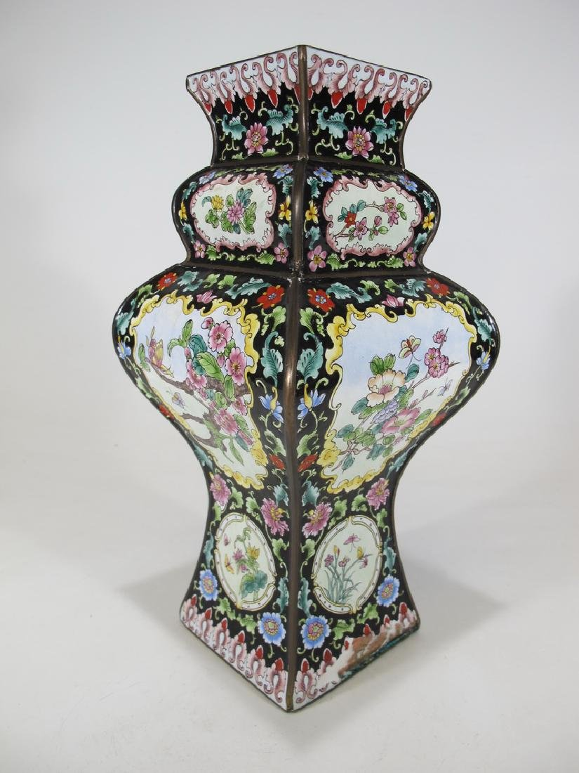 Antique Chinese cloisonne vase - 5