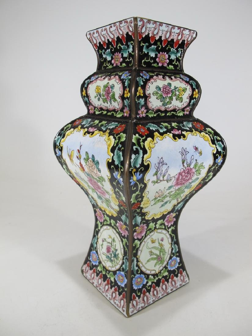 Antique Chinese cloisonne vase - 7
