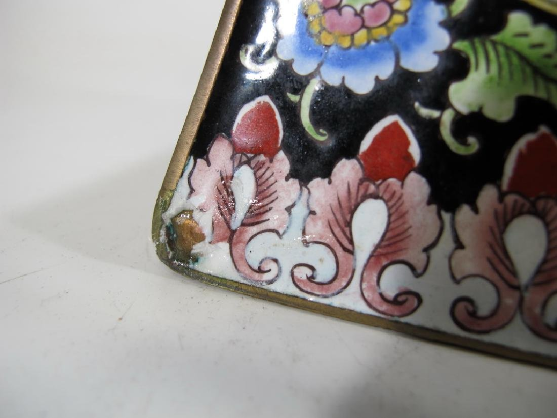Antique Chinese cloisonne vase - 8