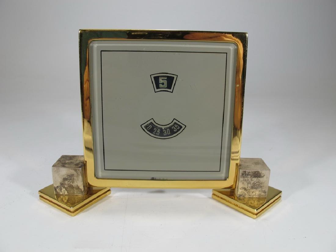 Vintage European goldplate clock