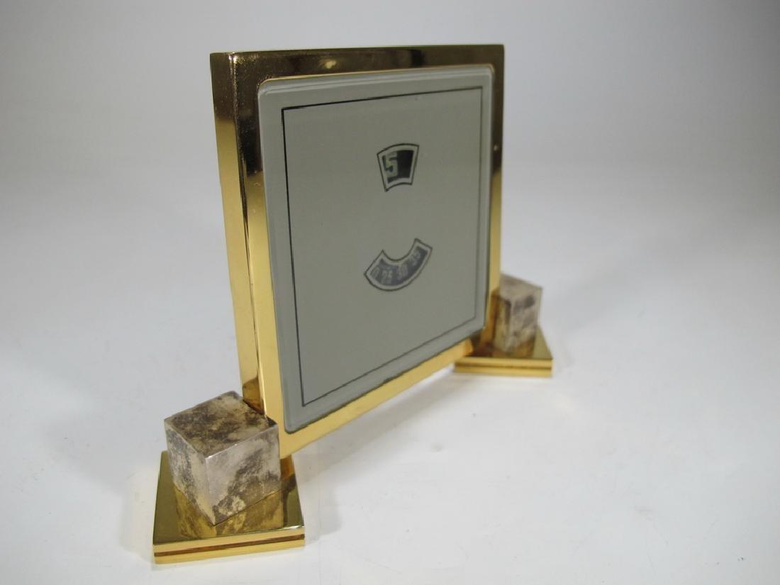 Vintage European goldplate clock - 3