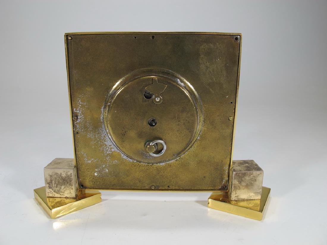 Vintage European goldplate clock - 4