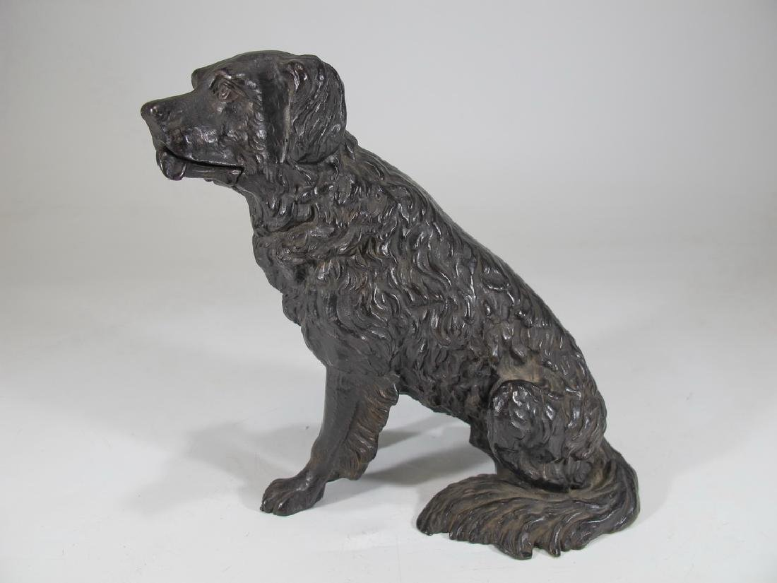 Antique iron mechanic dog sculpture