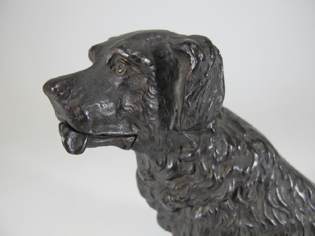 Antique iron mechanic dog sculpture - 2