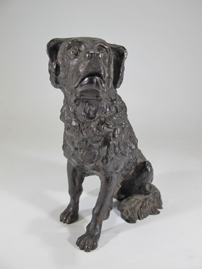 Antique iron mechanic dog sculpture - 3