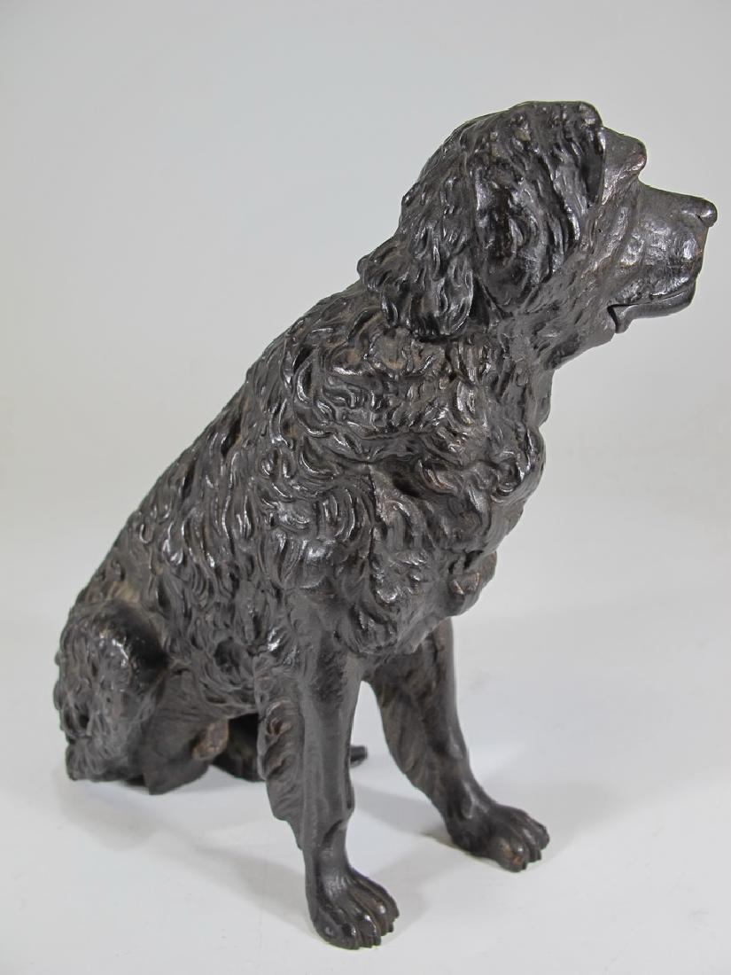 Antique iron mechanic dog sculpture - 4