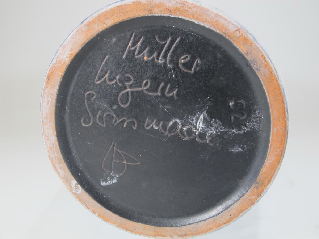 SWISS Pottery Vase By Gebruder Muller, Luzerner - 7