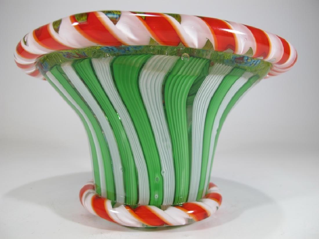 Vintage Italian millefiori murano glass - 2