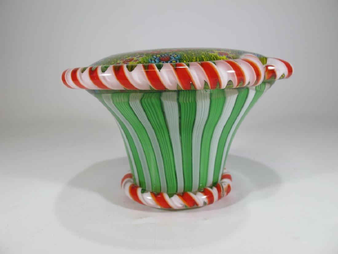 Vintage Italian millefiori murano glass - 4