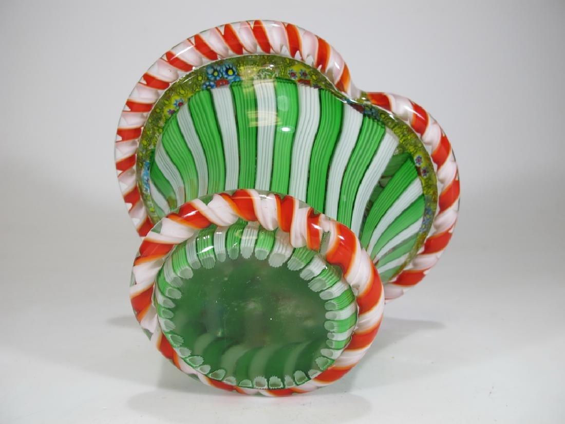 Vintage Italian millefiori murano glass - 6