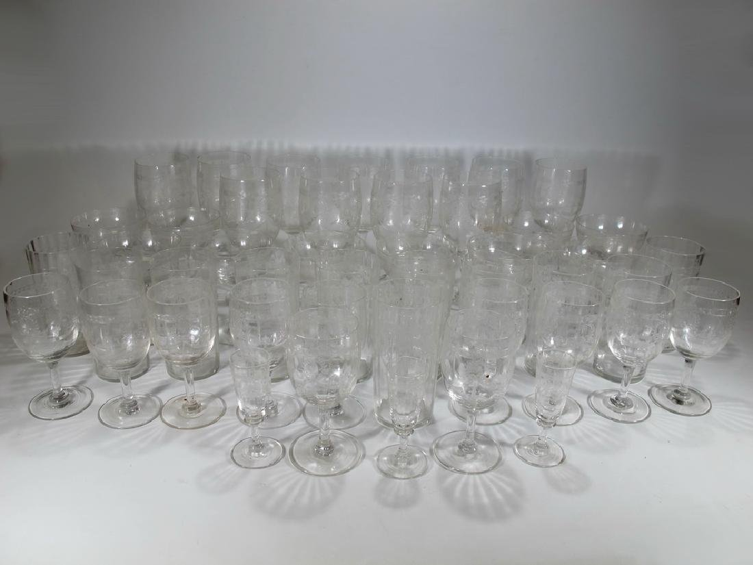 Vintage French set of 46 glasses