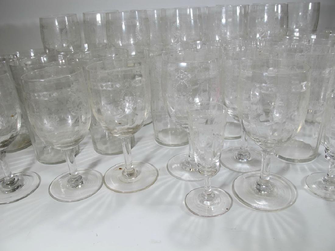 Vintage French set of 46 glasses - 3