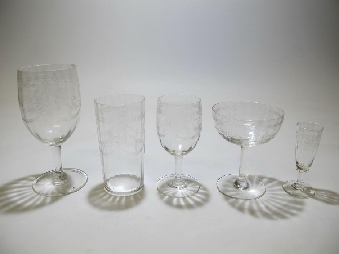 Vintage French set of 46 glasses - 5
