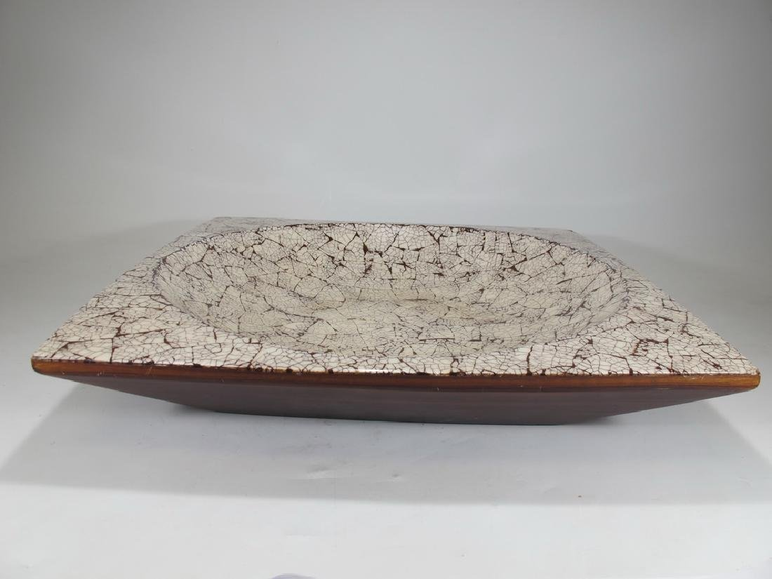 Mid Century carved & painted wood centerpiece