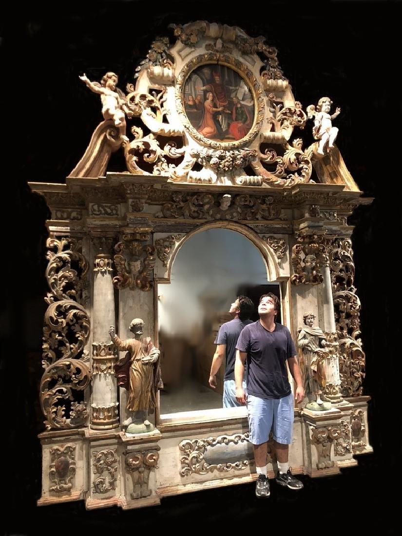 17th/18th probably Sicilian gilt poychrome altarpiece