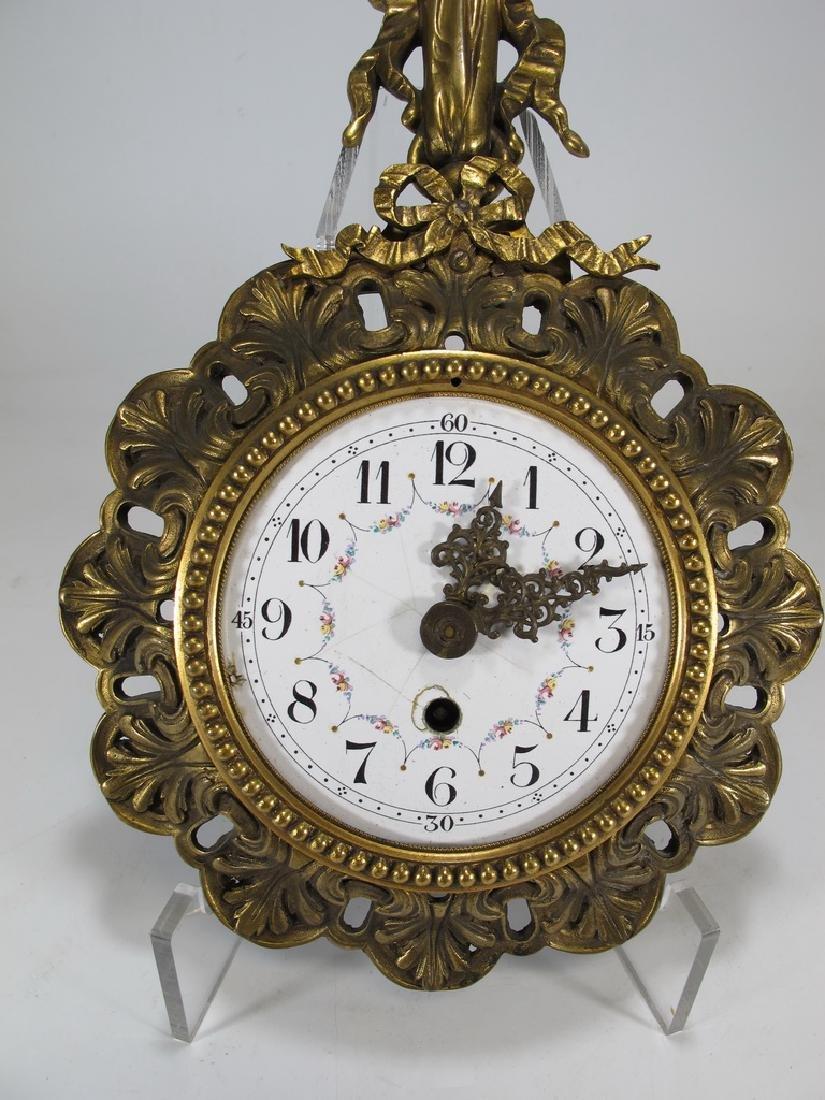 Antique Swiss bronze wall clock - 3