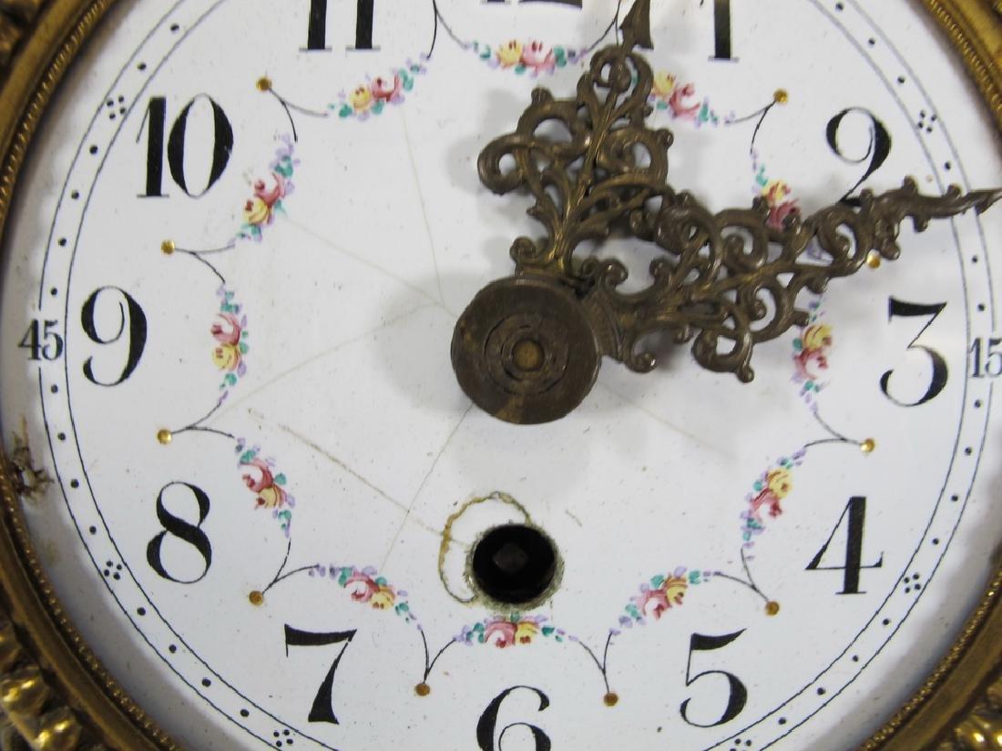Antique Swiss bronze wall clock - 4