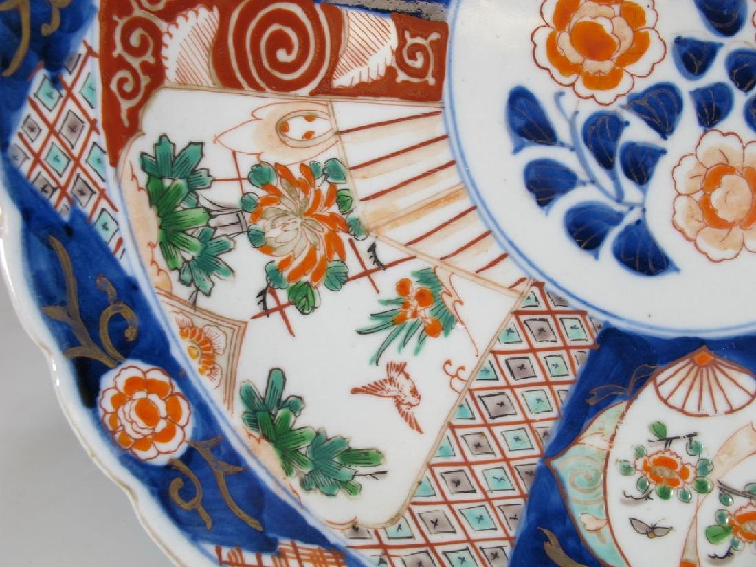 Antique Japanese Imari porcelain plate - 4