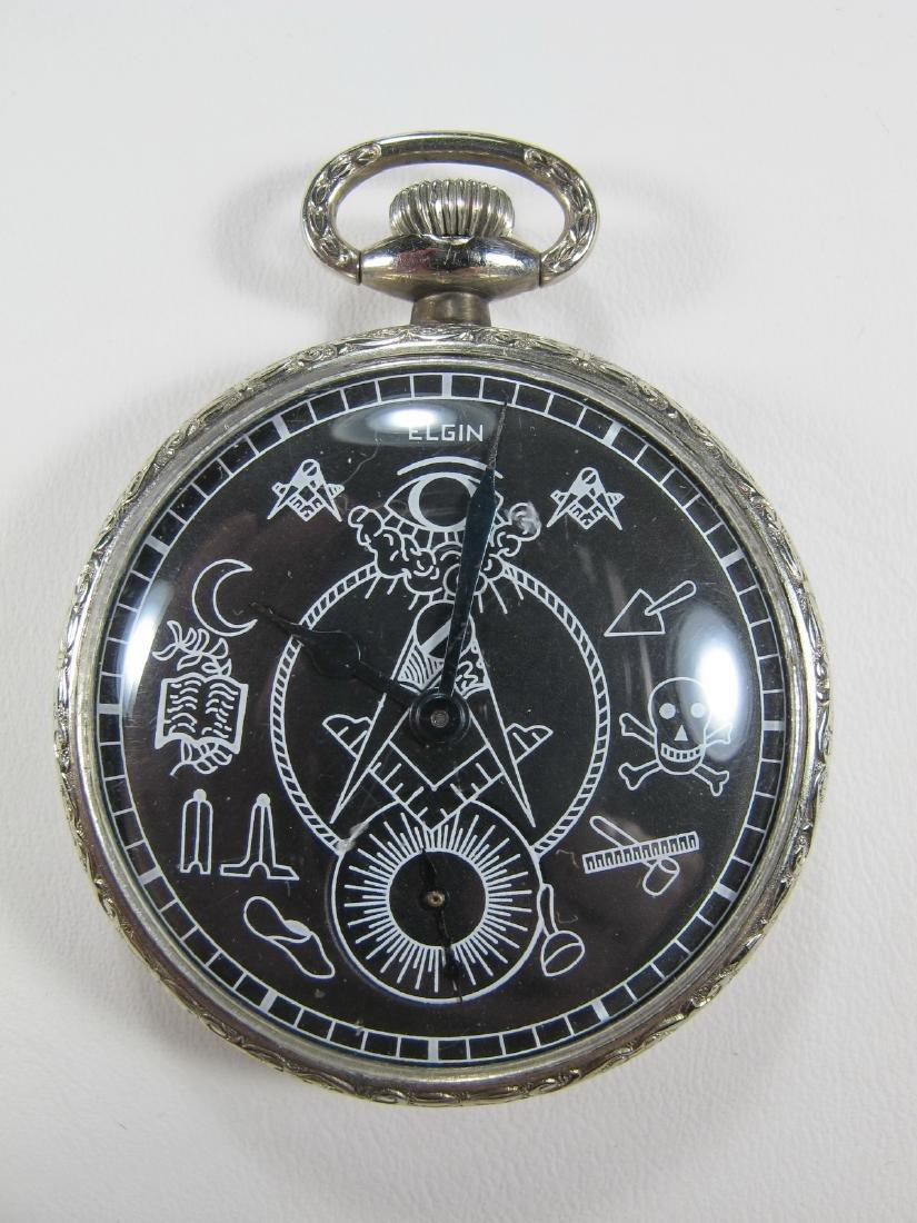 Vintage Elgin Masonic pocket watch