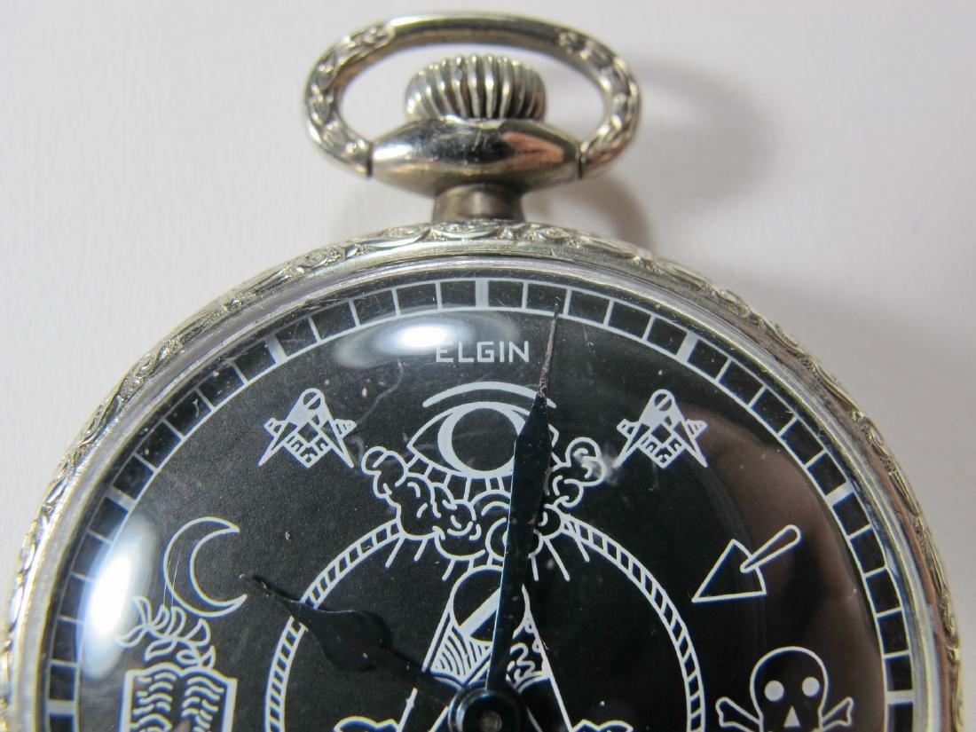 Vintage Elgin Masonic pocket watch - 2