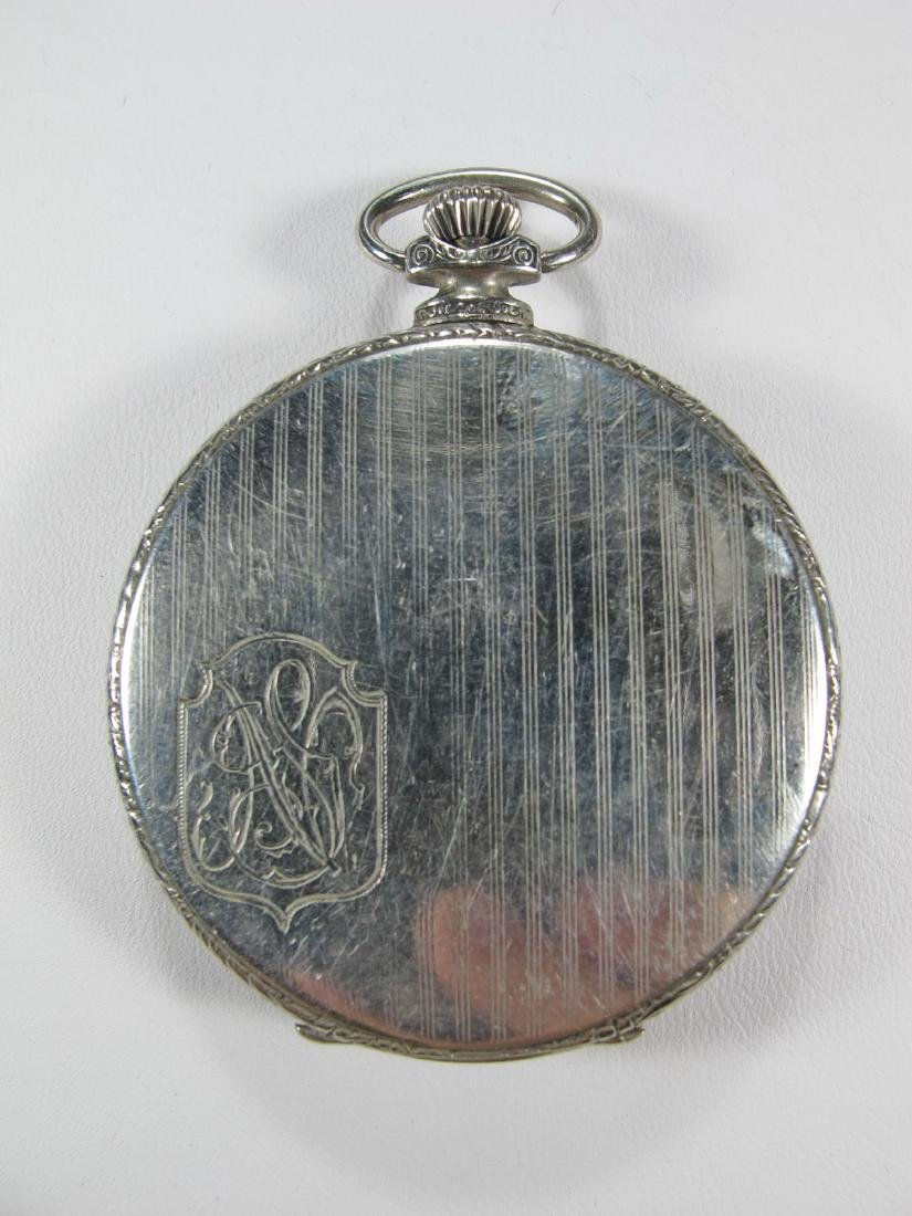 Vintage Masonic unbranded open face pocket watch - 2