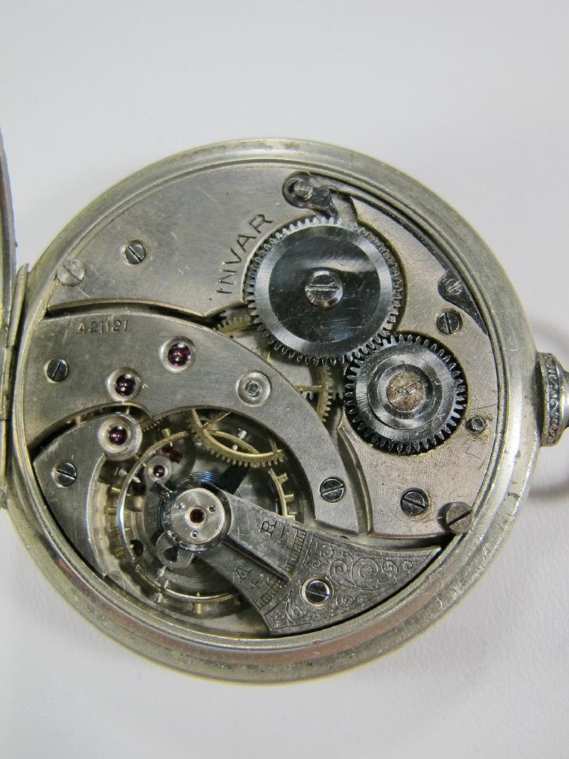 Vintage Masonic unbranded open face pocket watch - 3