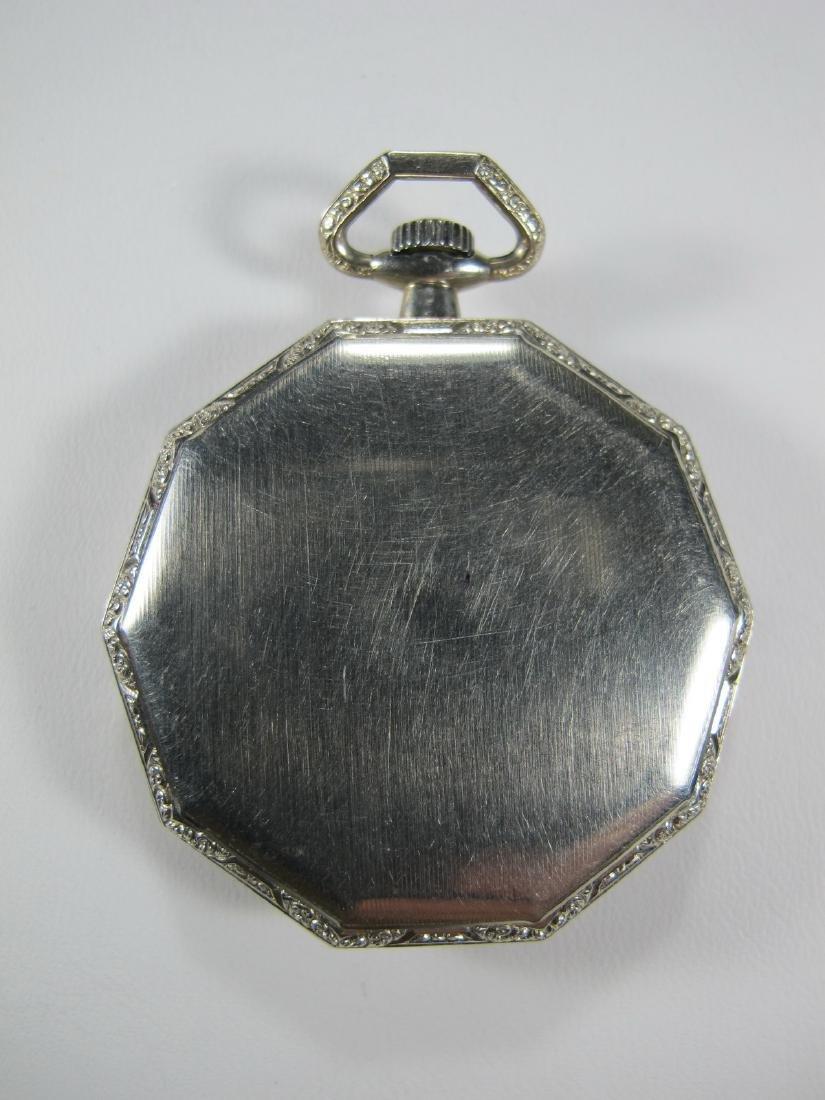 Vintage Elgin Masonic open face pocket watch - 2